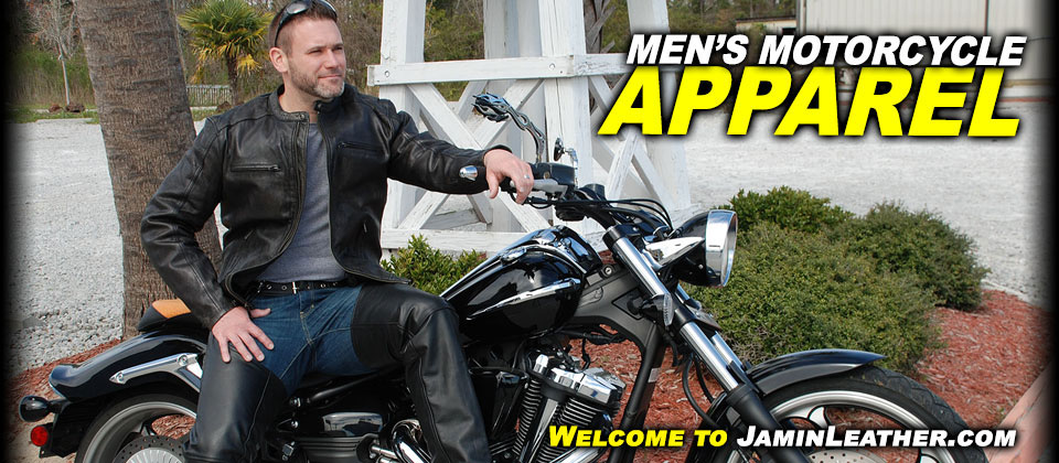Men's Leather Motorcycle Apparel at JaminLeather.com
