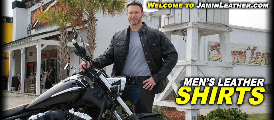 Men's Leather Shirts at JaminLeather.com
