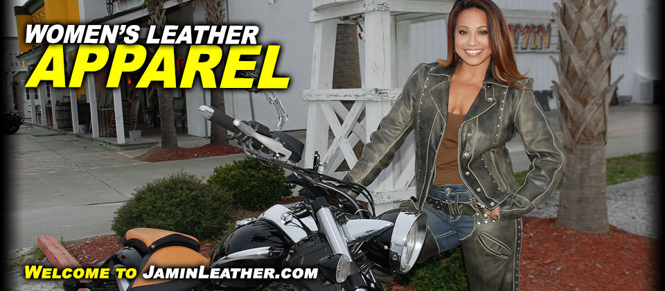 Women's Leather Apparel at JaminLeather.com